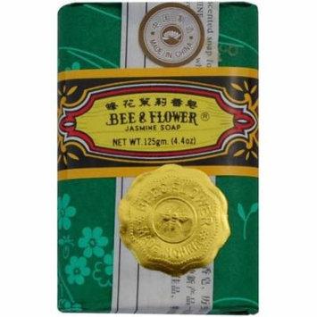 Bee & Flower Soap Bar Jasmine, 4.4 OZ (Pack of 4)