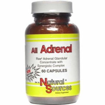 Natural Sources All Adrenal Glandular Concentrate with Synergistic Complex, 60 CT