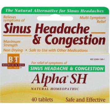 Boericke & Tafel Alpha SH Sinus Headache and Congestion Tablets, 40 CT