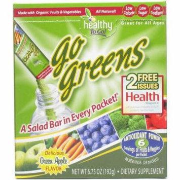 Greens Go Greens Water Enhancer Plus Super Fruit & Veggies, 24 CT