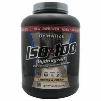 Dymatize Iso-100, Cookies & Cream, 5 LB