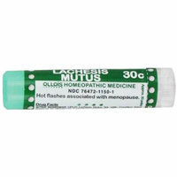 Ollois Homeopathic Medicines, Lachesis Mutus 30C Pellets, 80 CT (Pack of 2)