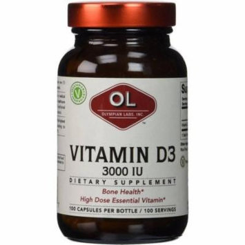Olympian Labs Vitamin D3, 3000IU, 100 CT