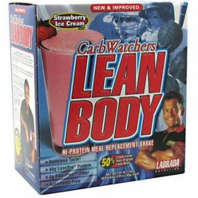 Labrada Nutrition Lean Body, Strawberry Ice Cream Flavor, 20 CT