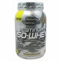 MuscleTech 100% Platinum Iso-Whey, Vanilla Ice Cream, 1.79 LB