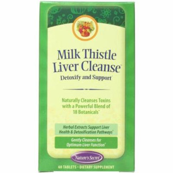 Nature's Secret Milk Thistle Liver Cleanse, 60 CT