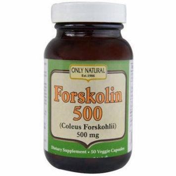 Only Natural Nutritional Vegetarian Capsules, Forskolin, 50 CT