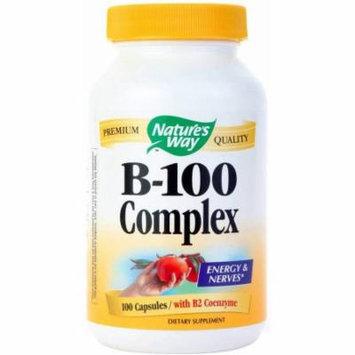 Nature's Way Vitamin B-100 Complex Capsules, 100 CT