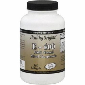 Healthy Origins Vitamin E-400, Softgels, 360 CT