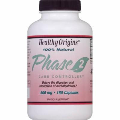 Healthy Origins Carb Controller, Phase 2, 500 mg, Capsules, 180 CT