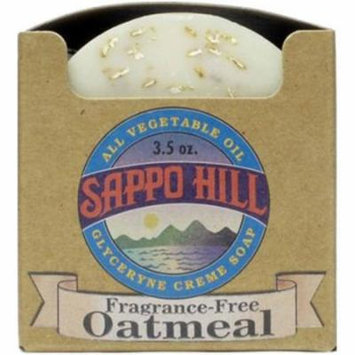 Sappo Hill Soapworks Natural Oatmeal Glycerine Cream Soap, 3.5 OZ (Pack of 12)