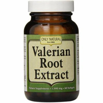 Only Natural Valerian Root Softgels, 60 CT