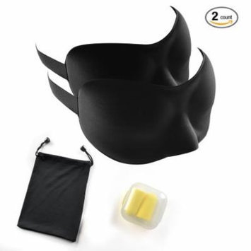 3D Sleep Mask Kit Anti-Bacterial Anti-Mite Lightweight Durable Foam Sleep Eye Mask w/ Earplugs