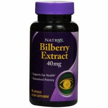 Natrol Bilberry Capsules, 60 CT