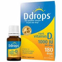 D Drops Vitamin D3 1000iu, 180 Liquid Drops, .17 OZ