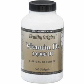 Healthy Origins Vitamin D3, Clinical Strength, 360 CT