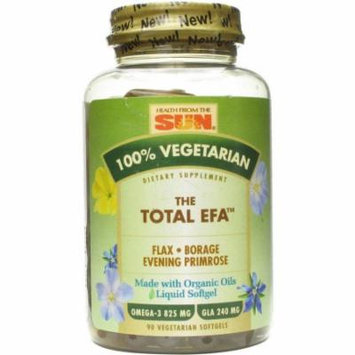 Health From The Sun The Total EFA Vegetarian Softgels, 90 CT