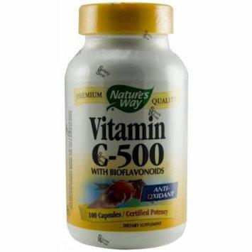 Nature's Way Vitamin C 500 with Bioflavonoids, Capsules, 100 CT