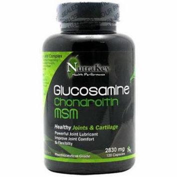 Nutrakey Glucosamine Chondroitin MSM Capsules, 120 CT