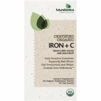Futurebiotics Iron + C Organic Certified Vegetarian Capsules, 90 CT