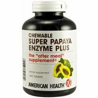American Health Super Papaya Enzyme Plus Chewable Tablets, 360 CT
