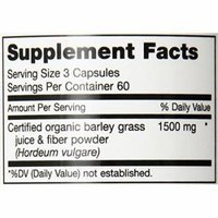 Maxi Health Green Concentrate - Organic Energy Booster - Barley Grass - 180 Capsules - Kosher