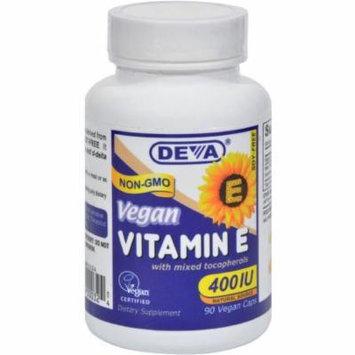 Deva Vitamin E 400iu ,Mixed Tocopherols, 90 CT