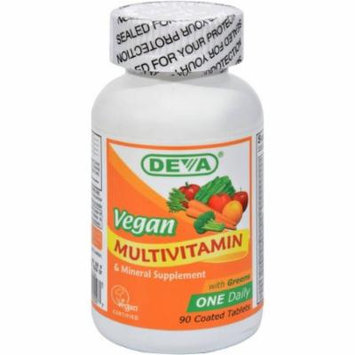 Deva Multivitamin with Iron, Vegan, 90 CT