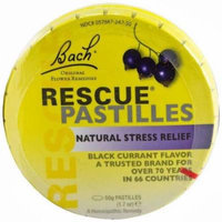 Bach Rescue Pastilles Black Currant Stress Relief, 50 GM