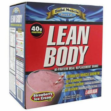 Labrada Nutrition Lean Body, Strawberry Ice Cream, 20 CT