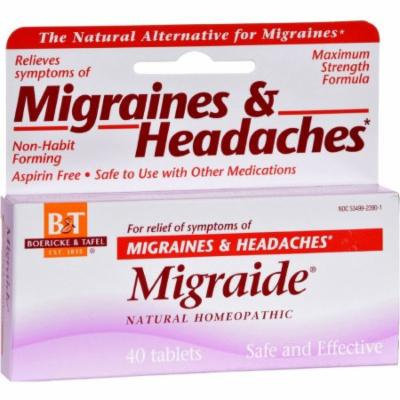 Boericke & Tafel Migraide & Headaches Tablets, 40 CT