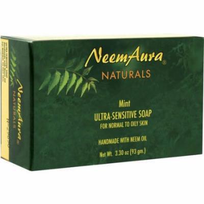 Neem Aura Naturals Neem Soap Mint, 3.3 OZ