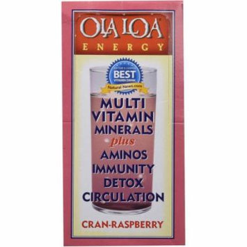 Ola Loa Energy Multi Vitamin, 90 Mineral Complexes Drink Mix, Cran-Raspberry, 30 CT