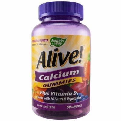 Nature's Way Alive Calcium Gummies, 60 CT