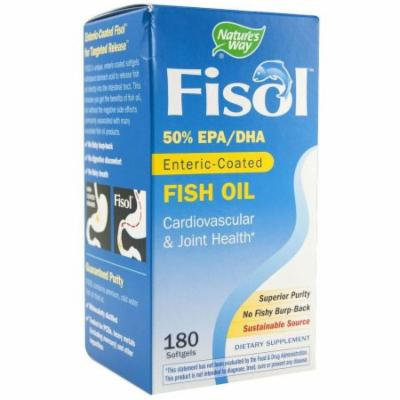 Nature's Way Fisol Fish Oil Soft gel Capsules, 180 CT