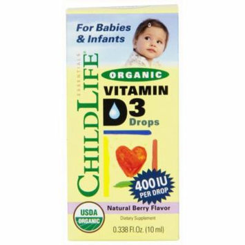 Child Life Essentials Organi Vitamin D3 Drogs, Natural Berry Flavor, 0.33 OZ