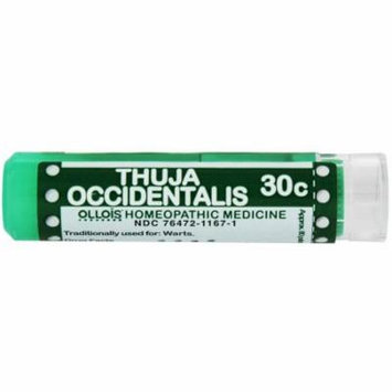 Ollois Homeopathic Medicines, Thuja Occidentalis 30C Pellets, 80 CT (Pack of 2)