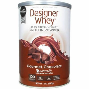 Designer Whey Protein Powder, 100% Premium Whey, Gourmet Chocolate, 12 OZ