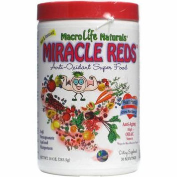 Macro Life Naturals Miracle Reds Canister Super Food Supplement, 10 OZ