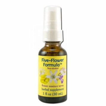 Flower Essence Services (FES) - Healing Herbs English Flower Essences, Five Flower Formula Spray Glycerin 1 oz