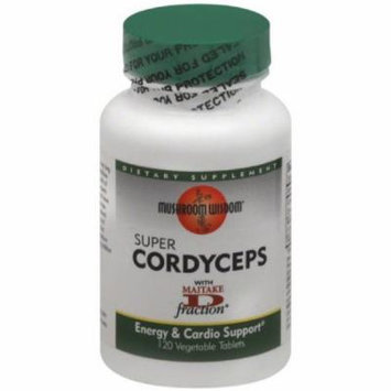 Mushroom Wisdom Cordyceps, Super, Vegetarian Tablets, 120 CT