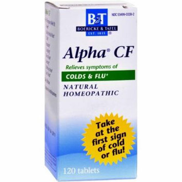 Boericke & Tafel Alpha Cold and Flu Tablets, 120 CT