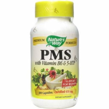 Nature's Way PMS with Vitamin B6 and 5 HTP Capsule, 100 CT