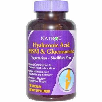 Natrol Veg Hyaluronic Acid Msm/Glucosamine Capsules, 90 CT