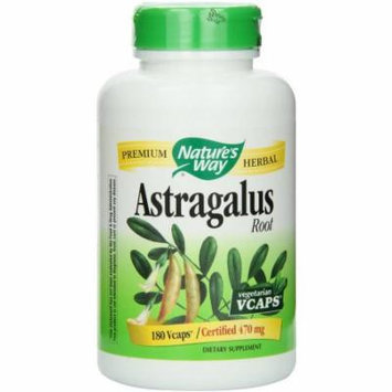 Nature's Way Herbal Singles Astragalus Root, 180 CT