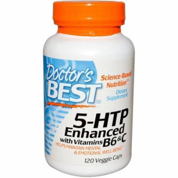 Doctor's Best 5 HTP w/ Vitamin B6 and C, 120 CT
