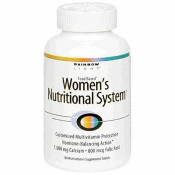Rainbow Light Women' s Nutritional System Multivitamin Supplement Food Based Tablets, 180 CT