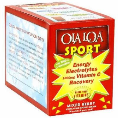 Ola Loa Sport, Energy Electorlytes Vitamin C Recovery Drink Mix, Mixed Berry, 30 CT