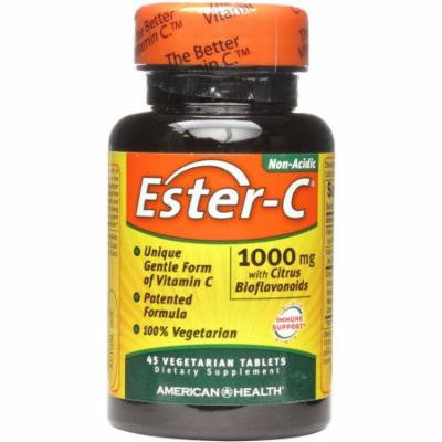 American Health Ester-C Dietary Supplement Vegetarian Tablets, 500mg with Citrus Bioflavonolds, 45 CT