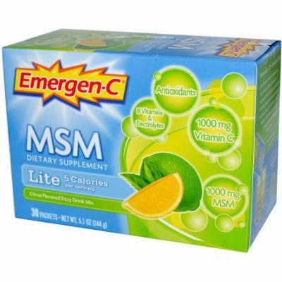 Emergen-C MSM Lite, Lemon Lime, 30 CT
